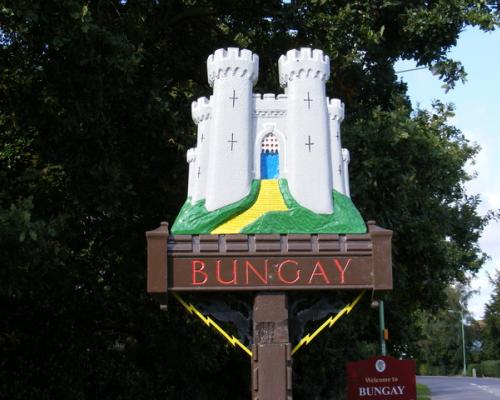 Bungay town sign