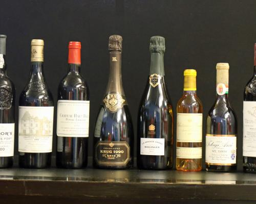 A selection of wines going under the hammer in Keys July Fine Sale