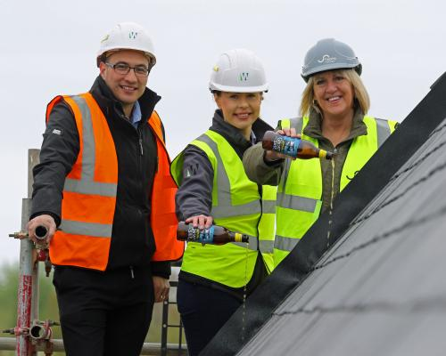 Aldeburgh affordable homes topping out