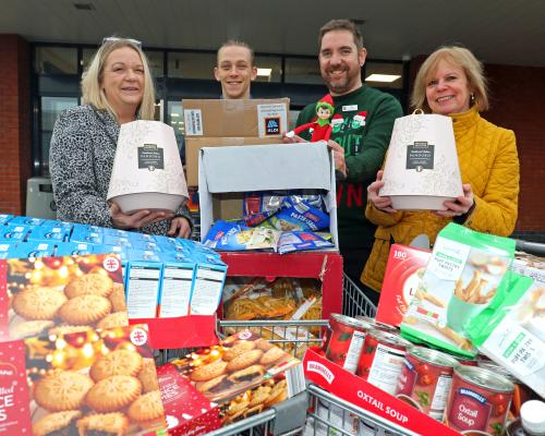 Aldi donation to Lovewell Blake for Great Yarmouth Open Christmas