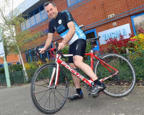 Bury St Edmunds accountant Paul Milton who is riding to Amsterdam for charity