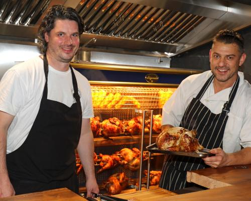 Chefs Andy Rudd left and Roger Hickman at Chick Inn at Micawbers sm