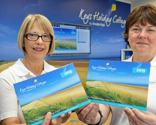 Gayle Baxter left and Louise Hillman of Keys Holiday Cottages with the firms new branding