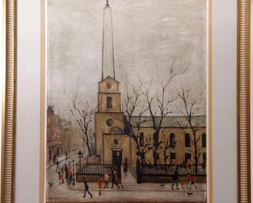 LS Lowry St Lukes Church Old Street London 1973 sold for 2100