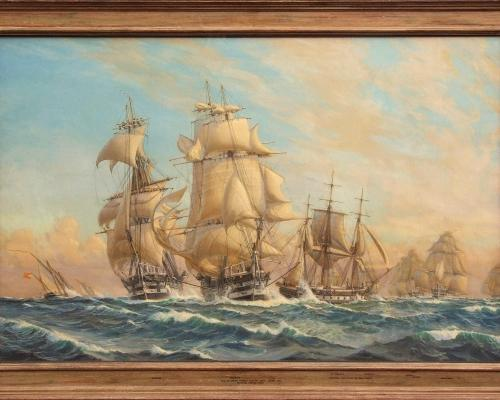 Lot 102 Lt Col Harold Wyllie The Channel Fleet in a Sailing Trial estimate 15000 20000
