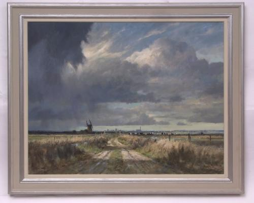 Lot 334 Colin Burns The Approaching Storm Yarmouth Marshes estimate 4000 6000