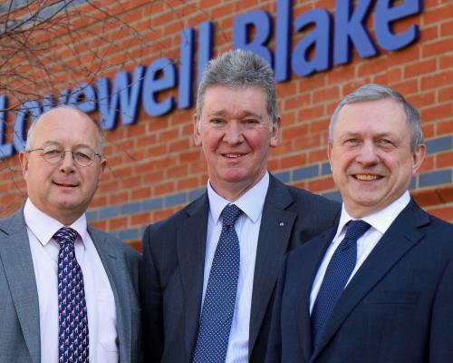 Lovewell Blake partner David Buller centre welcomes Adrian Izod left and Chris Bassett to the firms Bury St Edmunds office sm