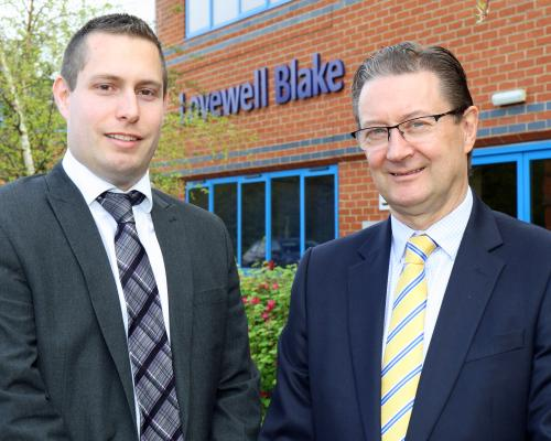 Lovewell Blake partner Leigh Thurston left welcomes Gary Howard to the firms Bury St Edmunds office