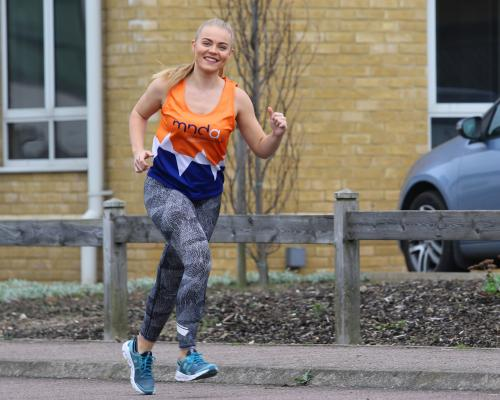 Lowestoft accountant Amy Randall in training for the London Marathon