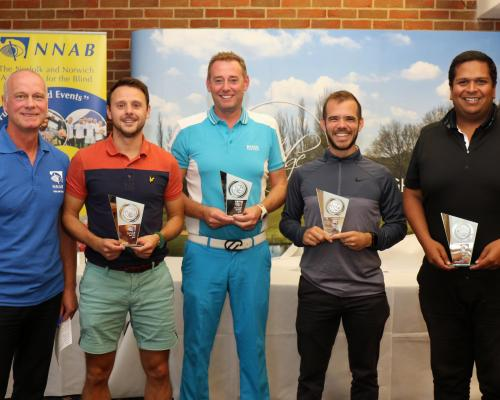 NNAB Golf Day 2018 the winning Barclays team with Jeremy Goss sm