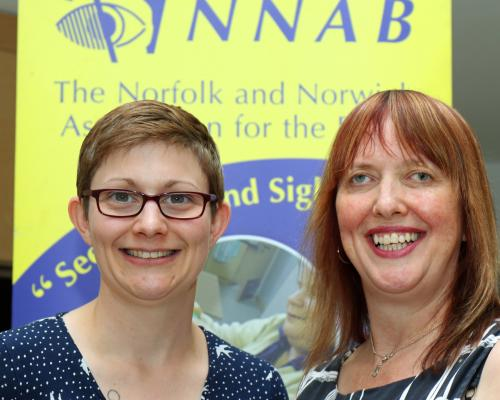 New NNAB volunteers co ordinators Rachael Green left and Penny Parker
