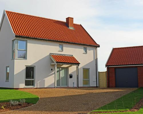 One of the new Broadland Housing homes at Erpingham