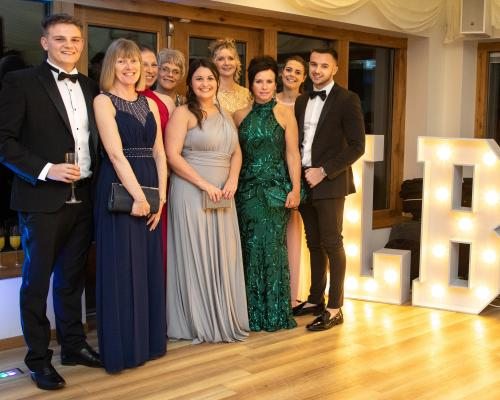 Staff from Lovewell Blake who organised the LB150 Ball which raised 4780 for local good causes