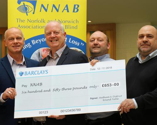Stalham Round Table presents cheque to NNAB sm