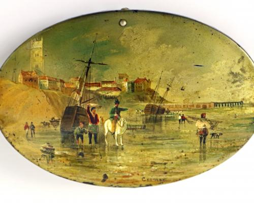 The 19th century view of Cromer on the Victorian sewing kit to be sold at Keys