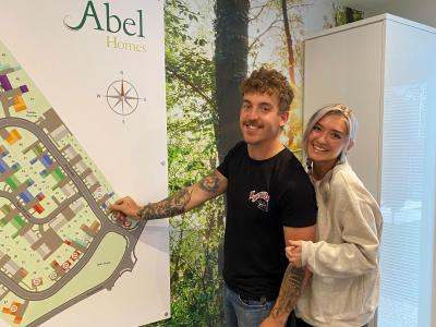Aaron Pitkethly and Rosalee Marshall are the first to reserve their new home at Taursham park in Taverham sm