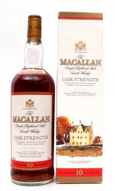 MacAllan Cask Strength 10 year old Single Malt Whisky sold for 620