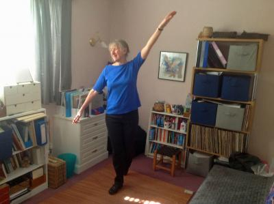 Sue York preparing for her seven day tap dancing challenge